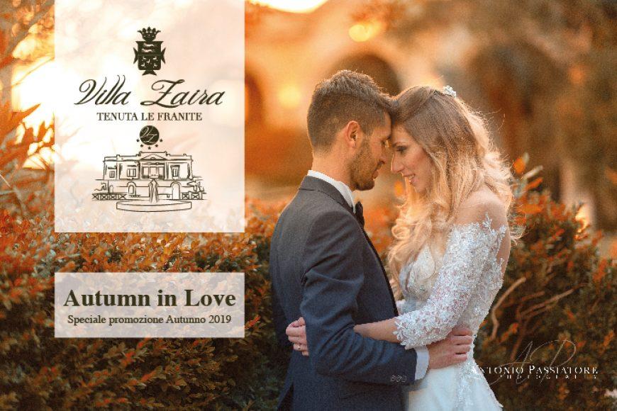 Autumn in love: sposarsi in autunno a Villa Zaira